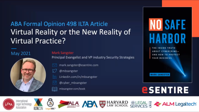 ABA Formal Opinion 498 - Virtual Reality Or The New Reality Of Virtual Practice