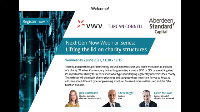 Next Gen Now - Lifting the lid on charity structures