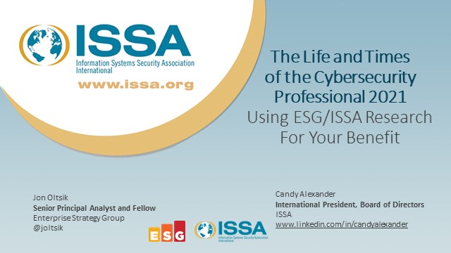 The Life and Times of the Cybersecurity Professional 2021