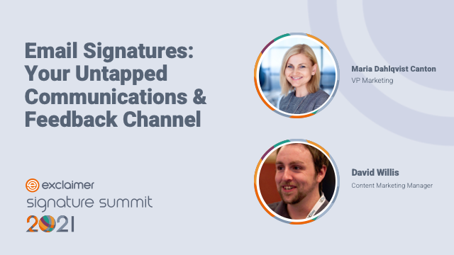 Email Signatures: Your Untapped Communications and Feedback Channel
