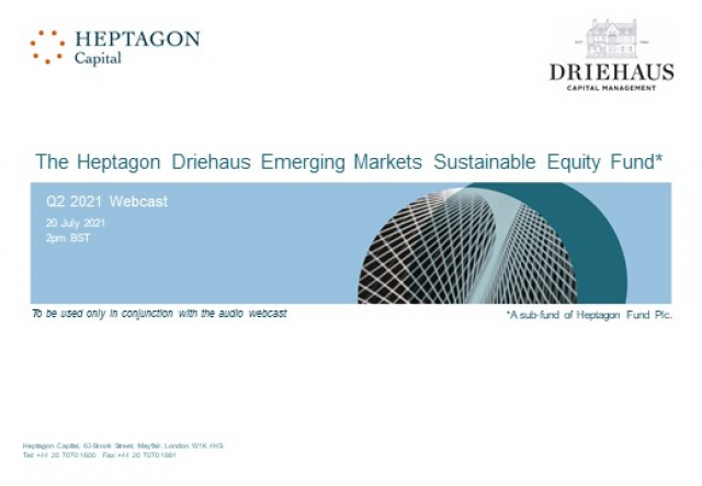 Driehaus Emerging Markets Sustainable Equity Fund Q2 2021 Webcast