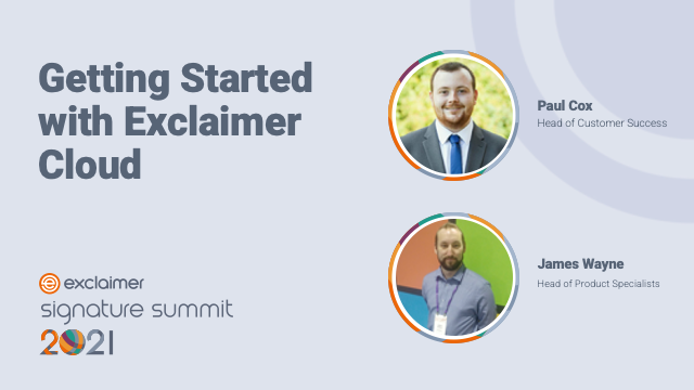 Getting Started with Exclaimer Cloud