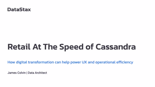 Retail at the Speed of Cassandra