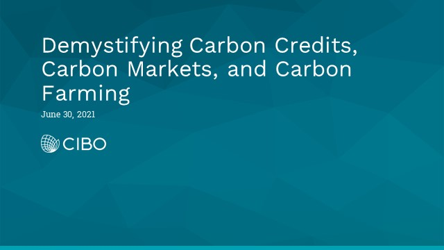 Demystifying Carbon Credits, Carbon Markets, and Carbon Farming