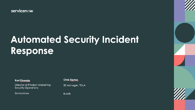Automated Security Incident Response