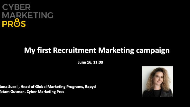 My first Recruitment Marketing campaign