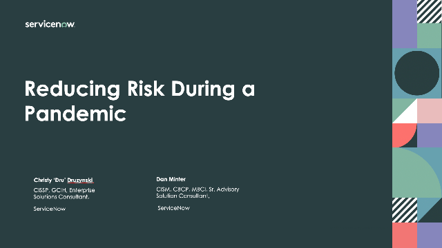 Reducing risk during a pandemic