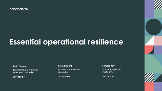 Essential operational resilience