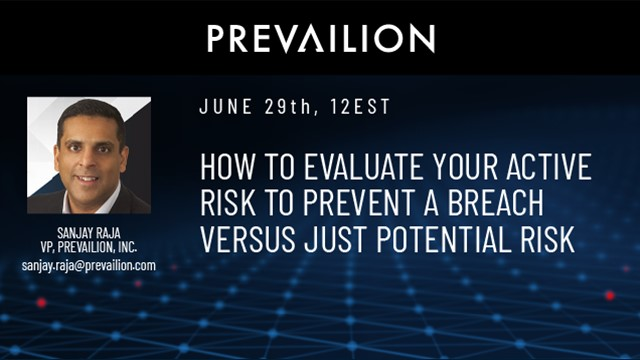 How to evaluate your active risk to prevent a breach versus just potential risk