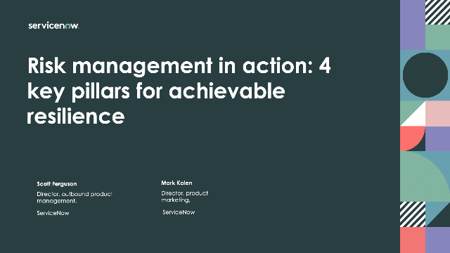 Risk management in action: 4 key pillars for achievable resilience