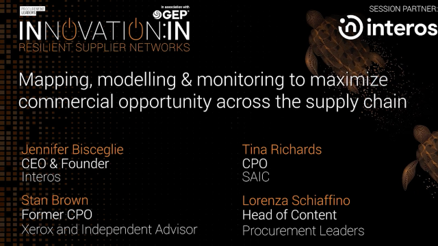 Map, Model, & Monitor Supply Chains
