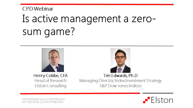 CPD: Is active management a zero-sum game?