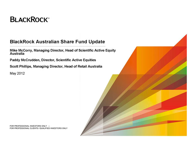 BlackRock Australia Share Fund Update Teleconference