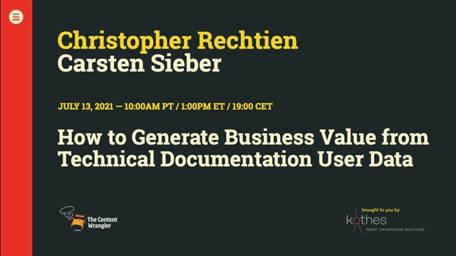 How To Generate Value From Technical Documentation User Data