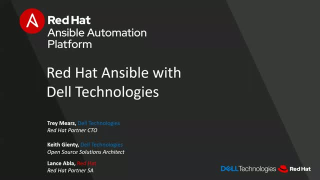 Join Dell & Red Hat to learn about Ansible Automation Platform
