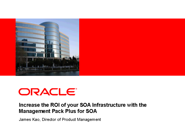Increase the ROI of your SOA infrastructure