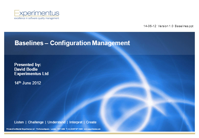 Baselines  -  Configuration Management
