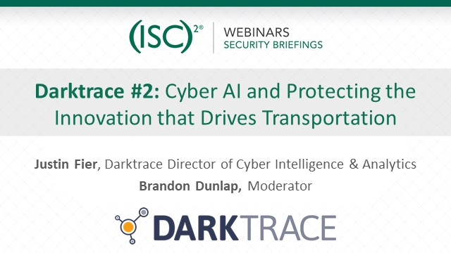 Darktrace #2: Cyber AI and Protecting the Innovation that Drives Transportation