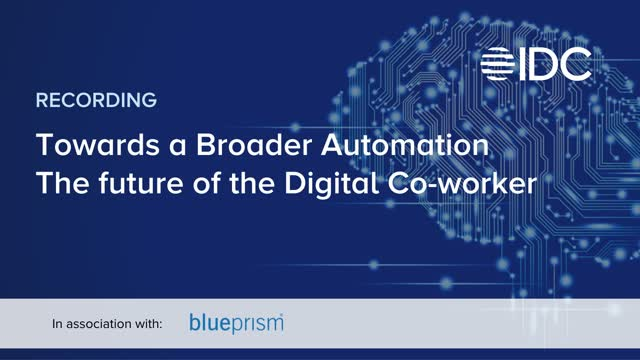 Towards a Broader Automation – The future of the Digital Co-worker