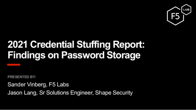 2021 Credential Stuffing Report: Findings on Password Storage