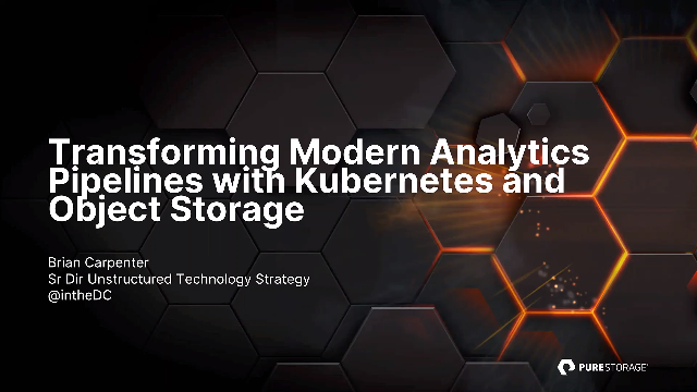 Transforming Modern Analytics Pipelines with Kubernetes and Object Storage