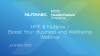 Boost your business and wellbeing with Nutanix & HPE
