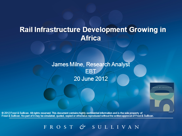 Rail Infrastructure Development Growing in Africa