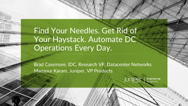 Find Your Needles. Get Rid of Your Haystack. Automate DC Operations Every Day.