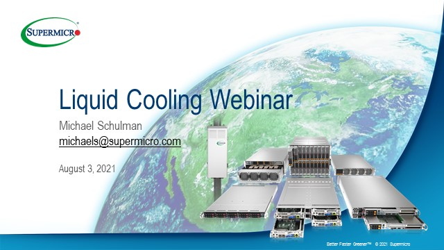 Liquid Cooling Fundamentals for your Data Center