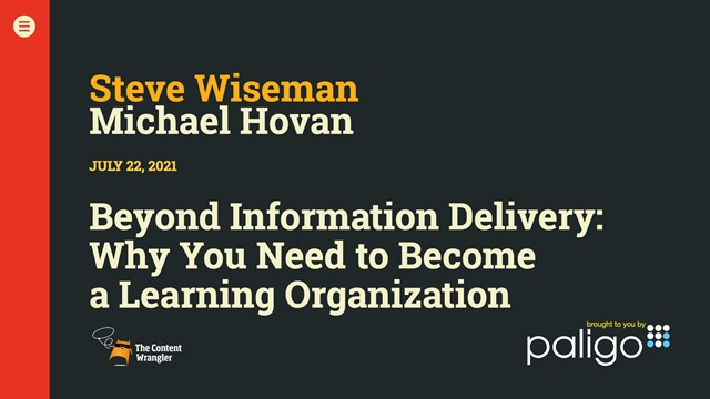Beyond Information Delivery: Why You Need to Become a Learning Organization