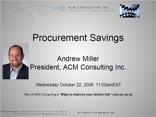 Ways to improve your bottom line - Procurement Savings