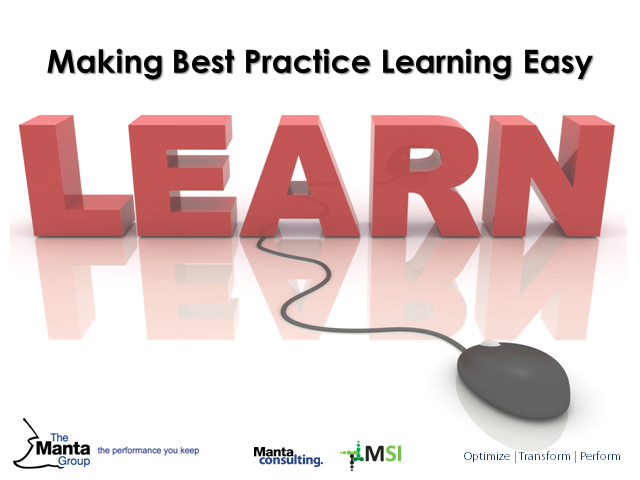 Making Best Practice Learning Easy