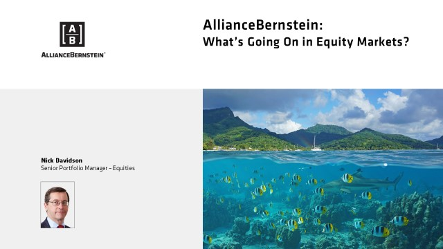 What's Going On in Equity Markets?