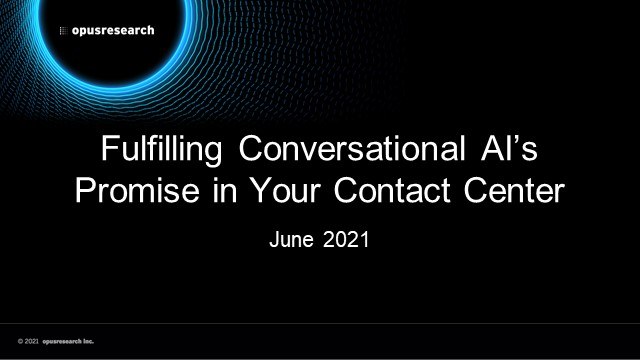 Fulfilling Conversational AI's Promise in Your Contact Center