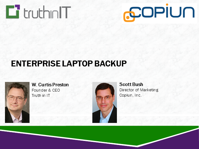 Enterprise Laptop Backups