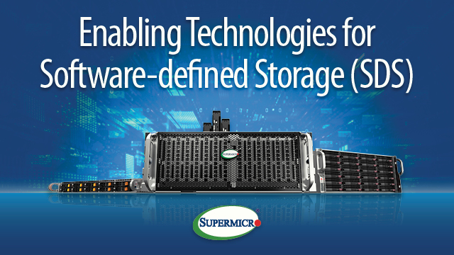 Panel Discussion: Enabling Technologies for Software-defined Storage (SDS)