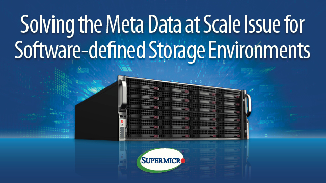 Solving the meta data at scale issue for software defined storage environments