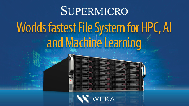 Worlds fastest File System for HPC, AI and Machine Learning