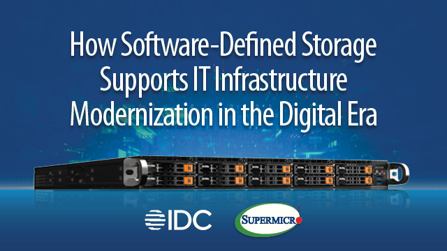 How Software-Defined Storage Supports IT Infrastructure Modernization
