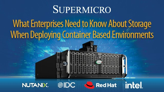 What Enterprises Need to Know When Deploying Container Based Environments
