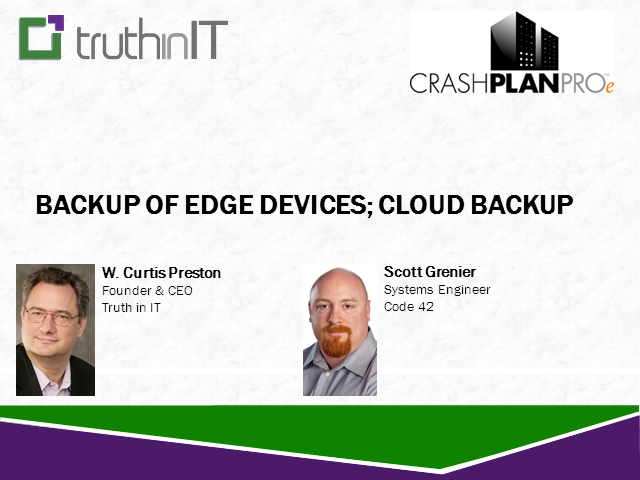 Backup of Edge Devices; Cloud Backup