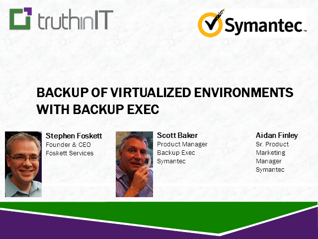 Backing up Virtualized Environments