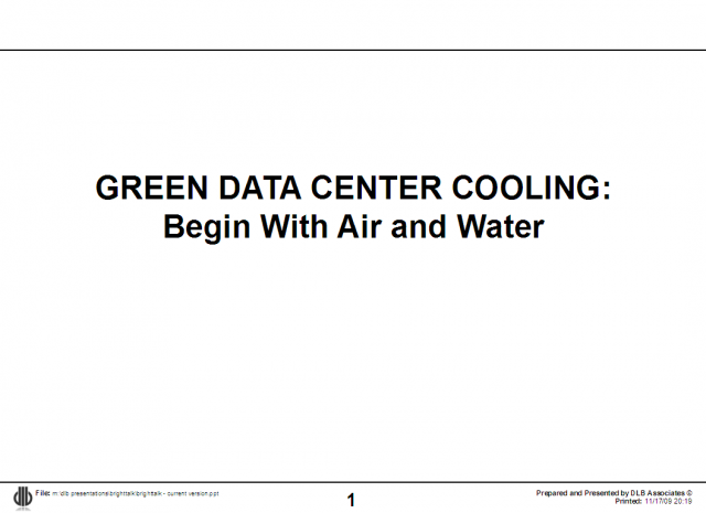 Data Center Cooling Options Begin with Air & Water