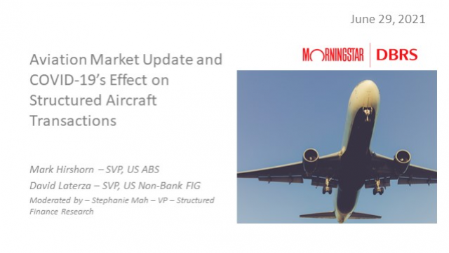 Aviation Market Update and COVID-19's Effect on Structured Aircraft Transactions