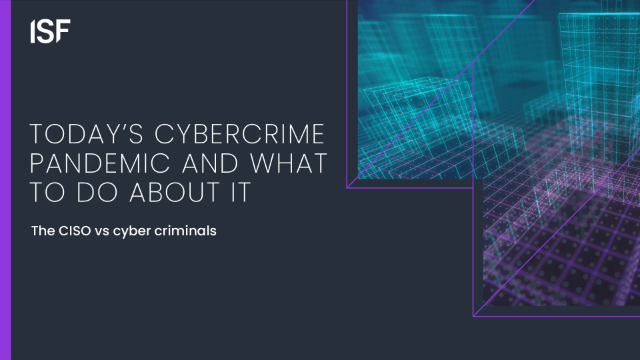 Today's Cyber Crime Pandemic and what to do about it