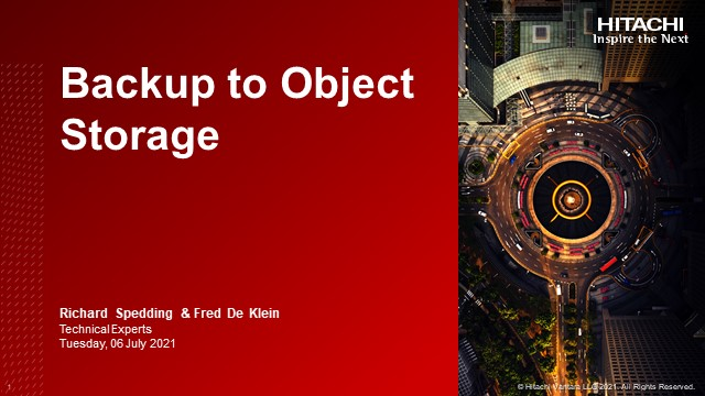 """EMEA Partner Update: """"How to do Backup to Object Storage"""""""