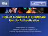 Role of Biometrics in Healthcare Identity Authentication