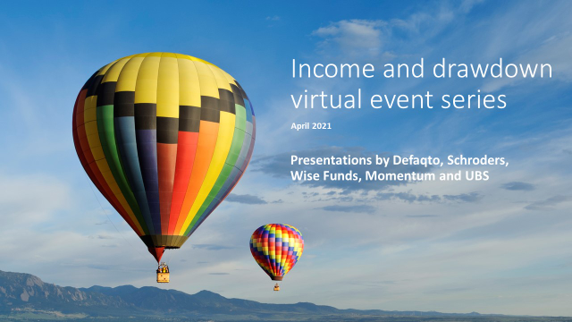 Defaqto Income and Drawdown virtual events. Part 3 - Wise Funds presentation