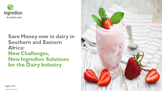 Save Money now in dairy in Southern and East Africa