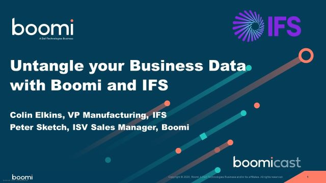 Video: Untangle your Business Data with Boomi and IFS